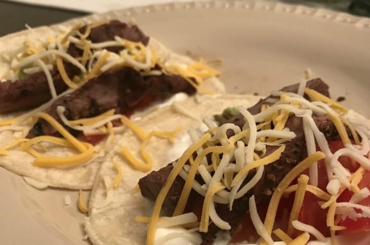 Venison Steak tacos